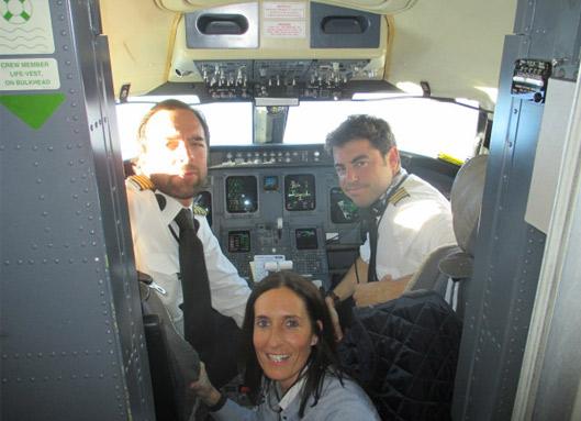 patricia campos primera semana avion