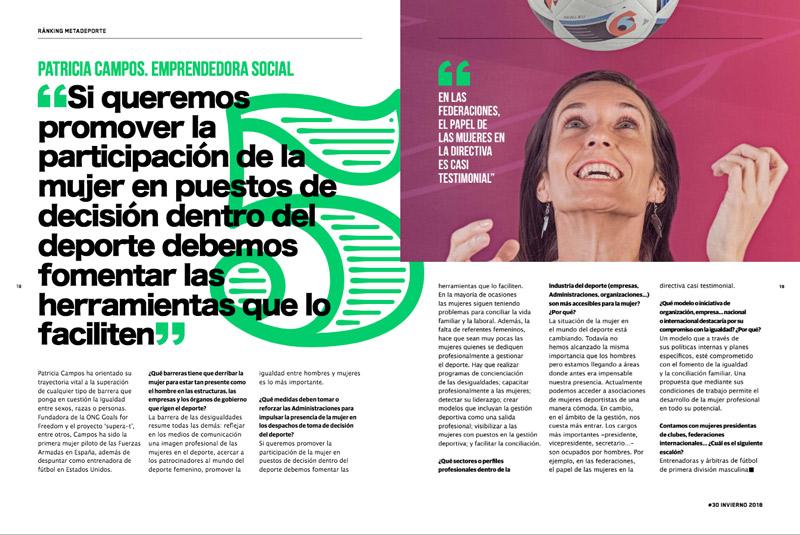 entrevista revista metadeporte patricia campos